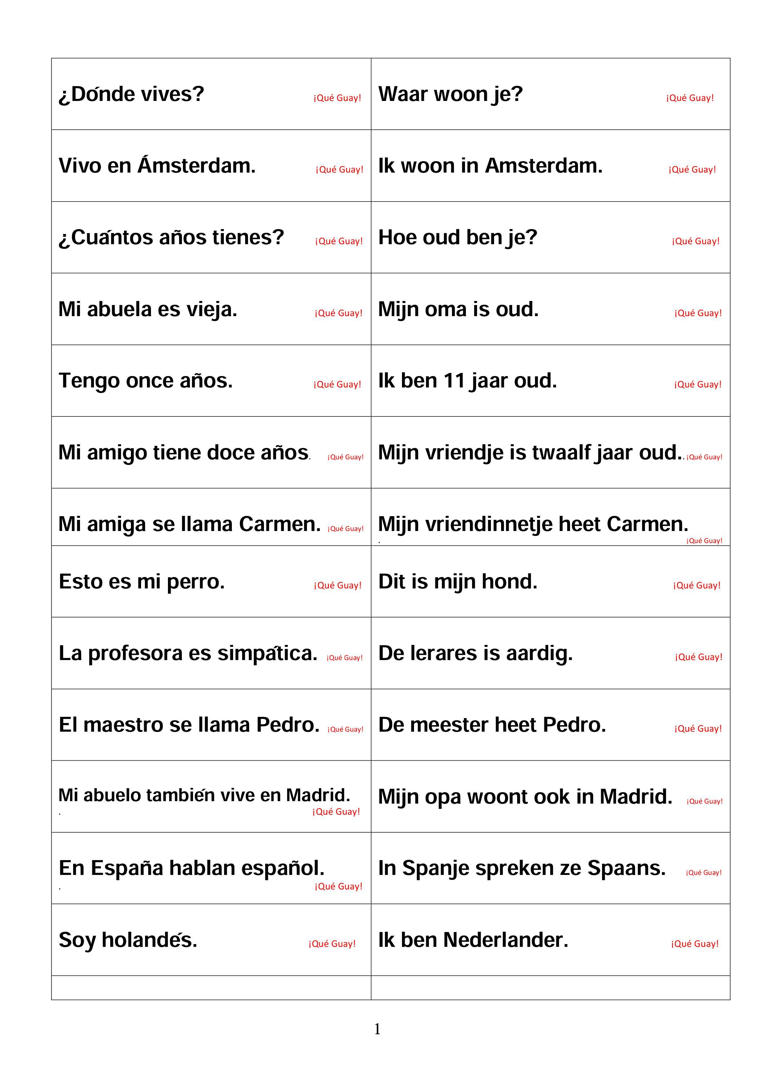 Handleiding Deel 1 Spaans Voor De Basisschool